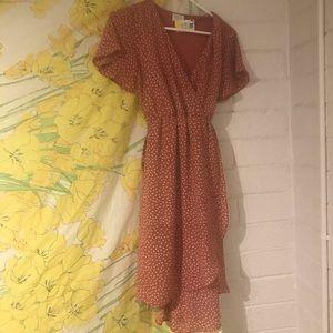 Dusty Rose Pink Boho Boutique Dress